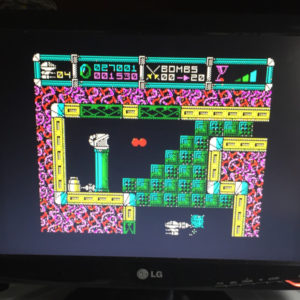 Exibição do jogo Cybernoid utilizando a biblioteca ESPVGAx2